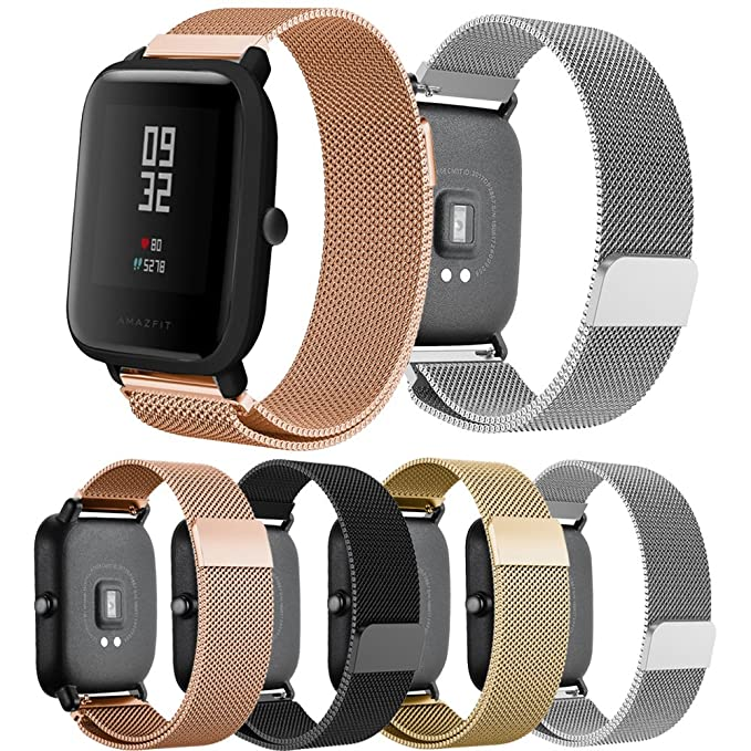 For Xiaomi Amazfit Bip Younth band,Senter 20mm Milanese Loop Adjustable Stainless Steel Replacement Strap band for Xiaomi Huami Amazfit Bip ...