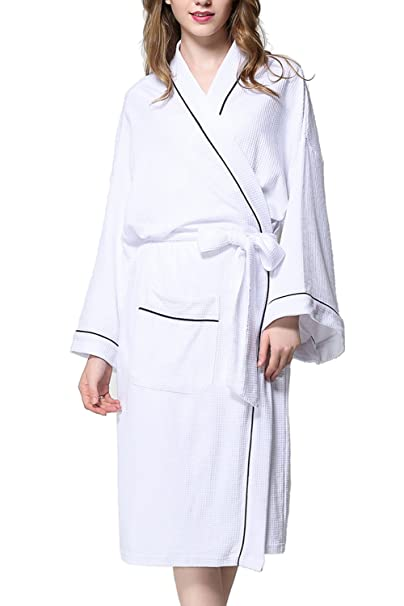 ALICECOCO señoras algodón floral kimono vestir vestido de lazo de la cintura traje de noche traje