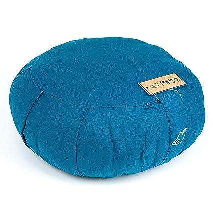 Blue Dove Yoga zafu – Cojín de meditación (Relleno de algodón Suave
