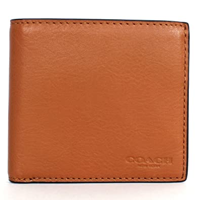 amazon com coach men s billfold leather wallet with coin pocket rh amazon com