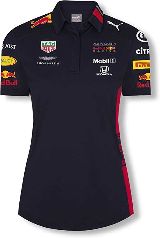 Red Bull Racing Official Teamline Camisa Polo, Azul Mujer Large ...