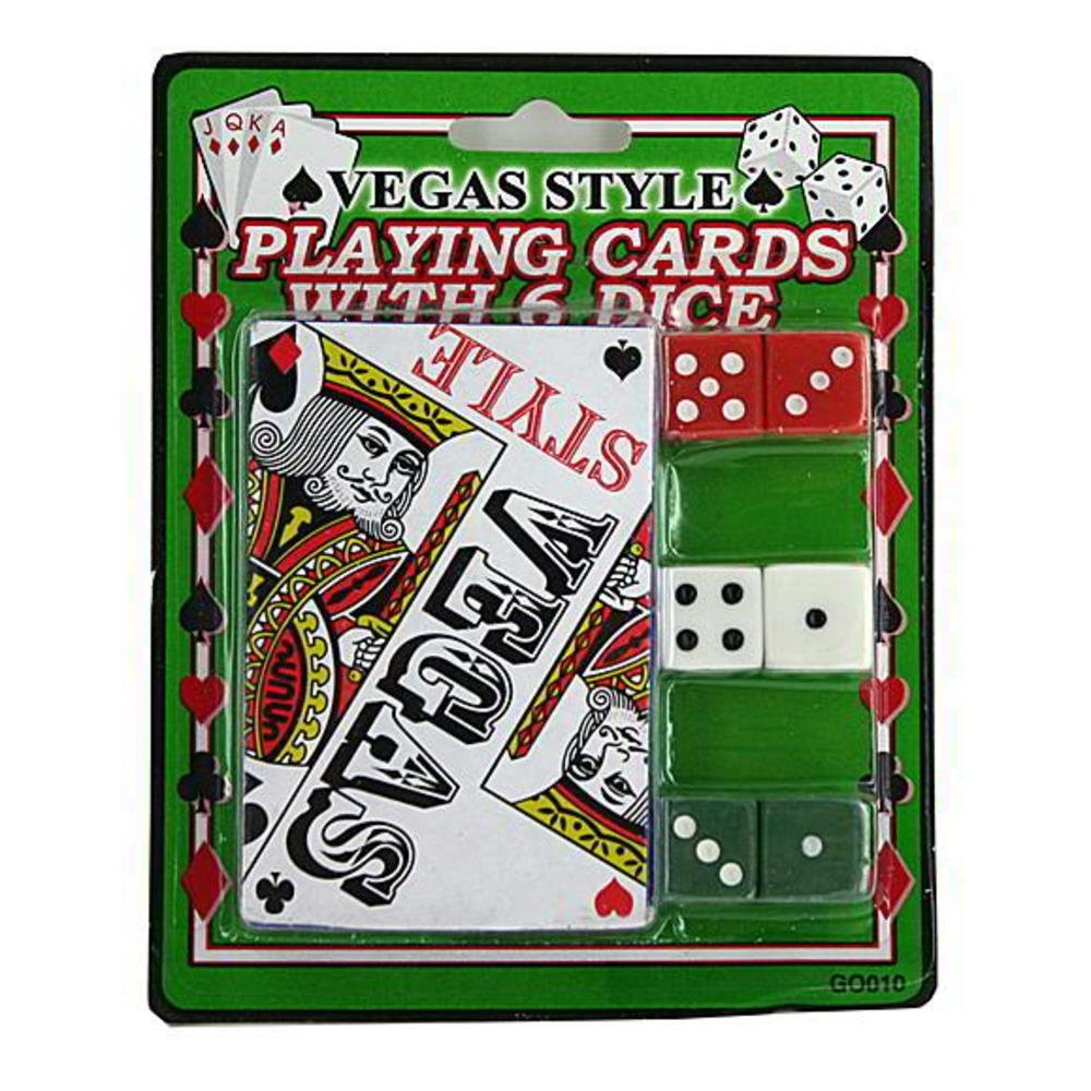 96 Vegas style playing card with dice