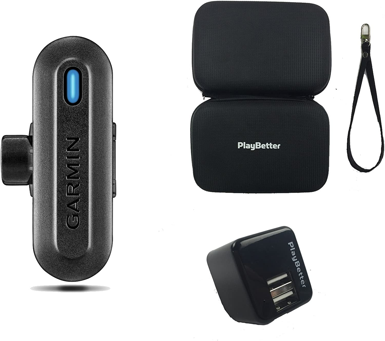 Garmin TruSwing Ensemble analyseur de Swing de Golf avec étui de Transport Rigide PlayBetter et Adaptateur Mural USB