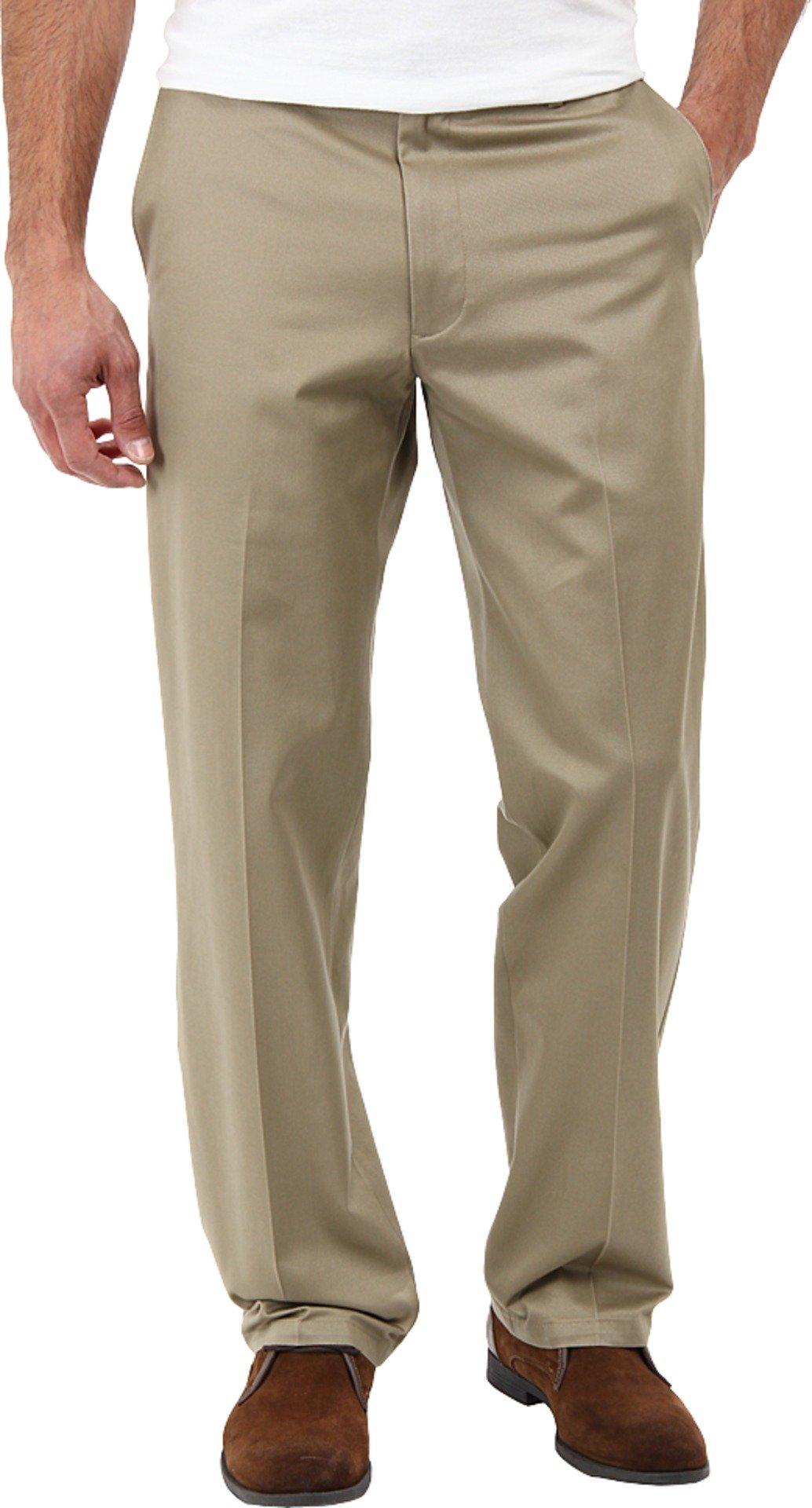 Dockers Men's Men's Signature Khaki D2 Straight Fit Flat Front British Khaki Pants 32 X 34