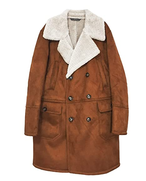 Zara Cappotto Uomo Marrone L: Amazon.it: Abbigliamento