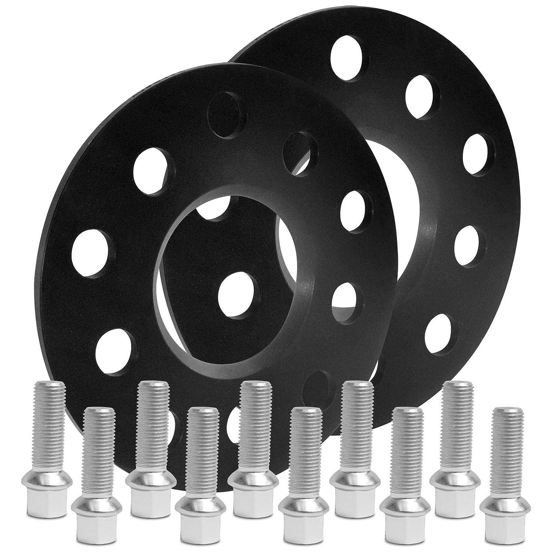 BlackLine Spurverbreiterung 10mm 10205W/_43/_M1415KU33S mit Schrauben silber 5x112 57,1mm 5mm