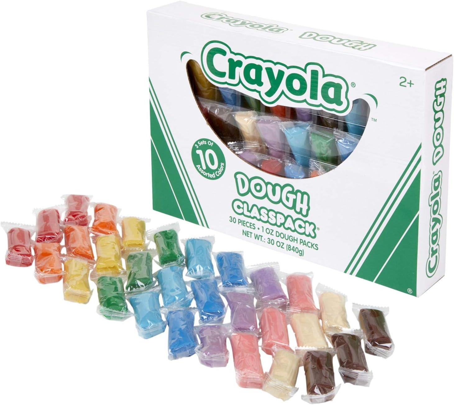 10 Assorted Colors 30 Sets of 10 Packs 1oz per Pack Crayola Dough Classpack Art Supplies