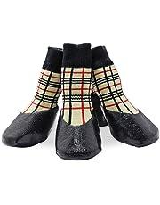 KEESIN Haustier-Hundewelpen Wasserdichte Anti-Rutsch-Sportsocken Schuhe Stiefel, Gummisohle, Paw-Schutz für Small/Medium/Large Hund