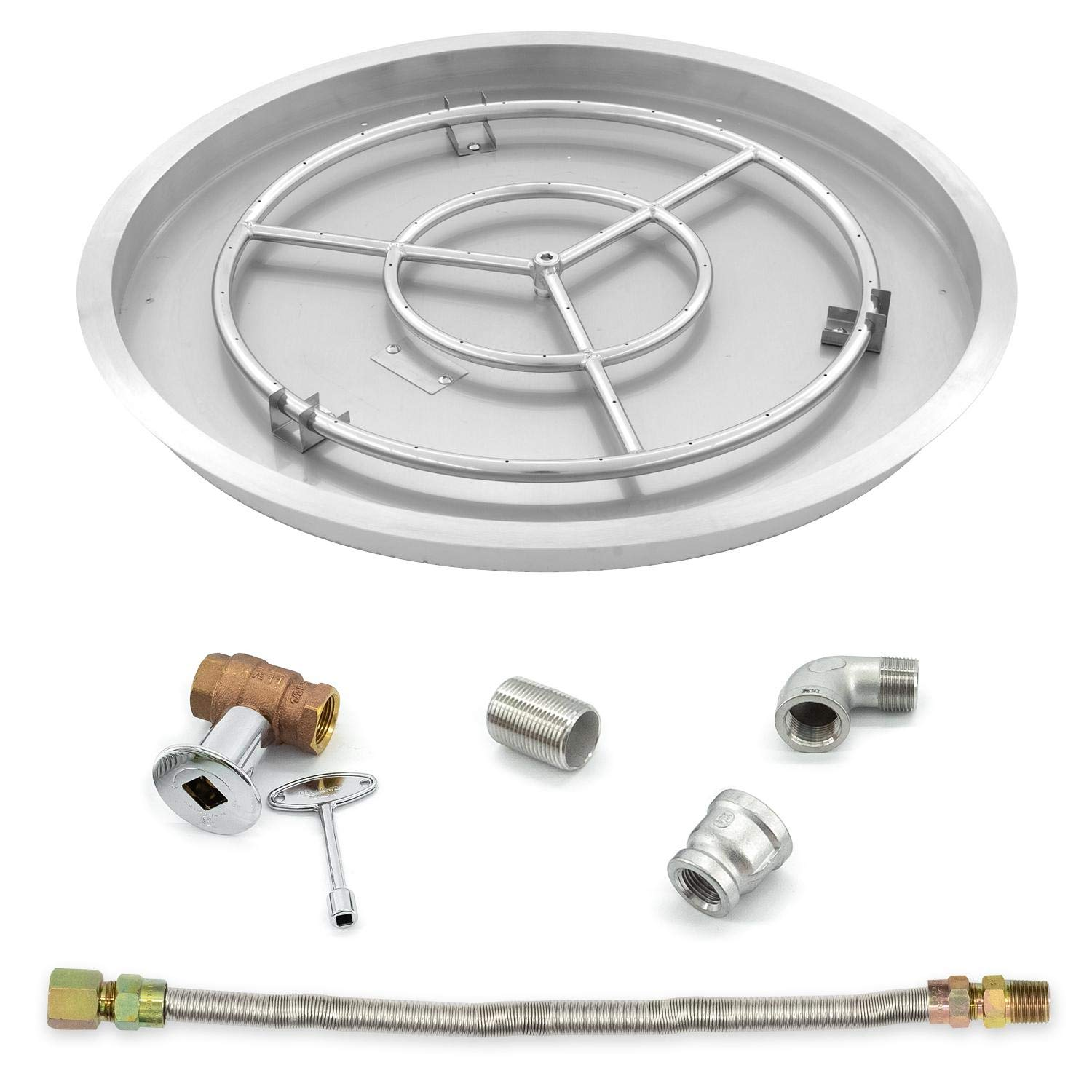 Lakeview Outdoor Designs 31-Inch Round Drop-in Pan W/ 24-Inch Propane Ring Burner & Connection Kit by Lakeview Outdoor Designs