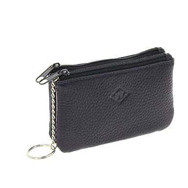 Fashiongen - Monedero de pequeña,llavero,Piel, ZIP para Mujer y hombre