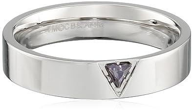 mens star trek stainless steel purple trillium crystal band - Star Trek Wedding Ring