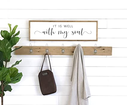 . Amazon com  MaxwellYule it is Well with My Soul Sign Wall Decor