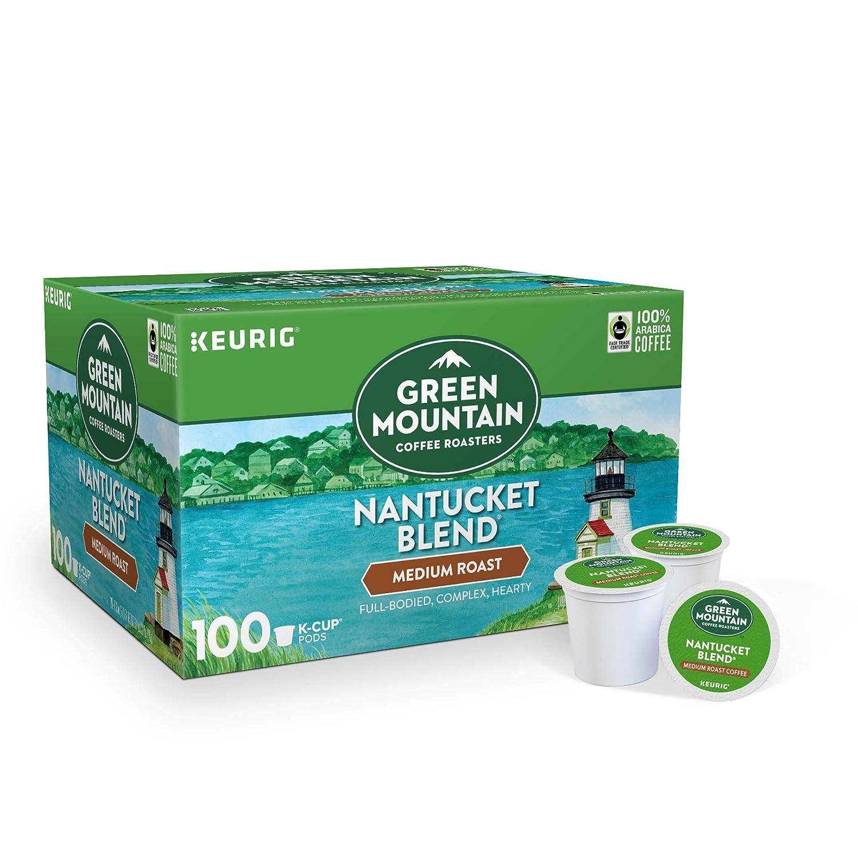 Green Mountain Coffee Roasters Nantucket Blend Keurig K-Cup Pods Coffee, Medium Roast, 33.1 Ounce