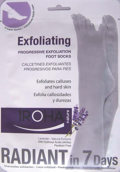 Amazon.com : Iroha Nature Progressive Feet Exfoliating Lavender Treatment Socks : Foot Scrubs : Beauty