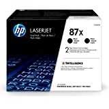 HP 87X   CF287XD   2 Toner Cartridges   Black   Works with HP LaserJet Enterprise M527, M506, M501   High Yield