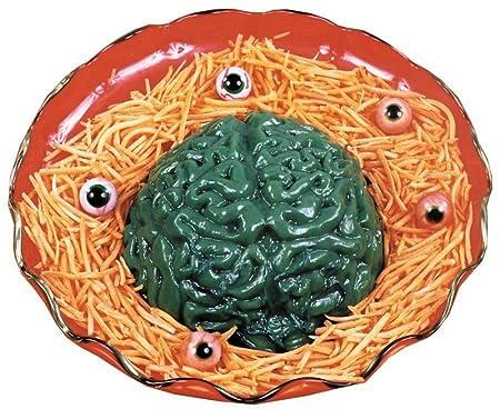 Amazon.com   Forum Novelties 69000 Horr Life Size Brain Dessert Jello Gelatin Mold Zombie Food Halloween Horror Prop-2pc, One: Cups, Mugs, & Saucers