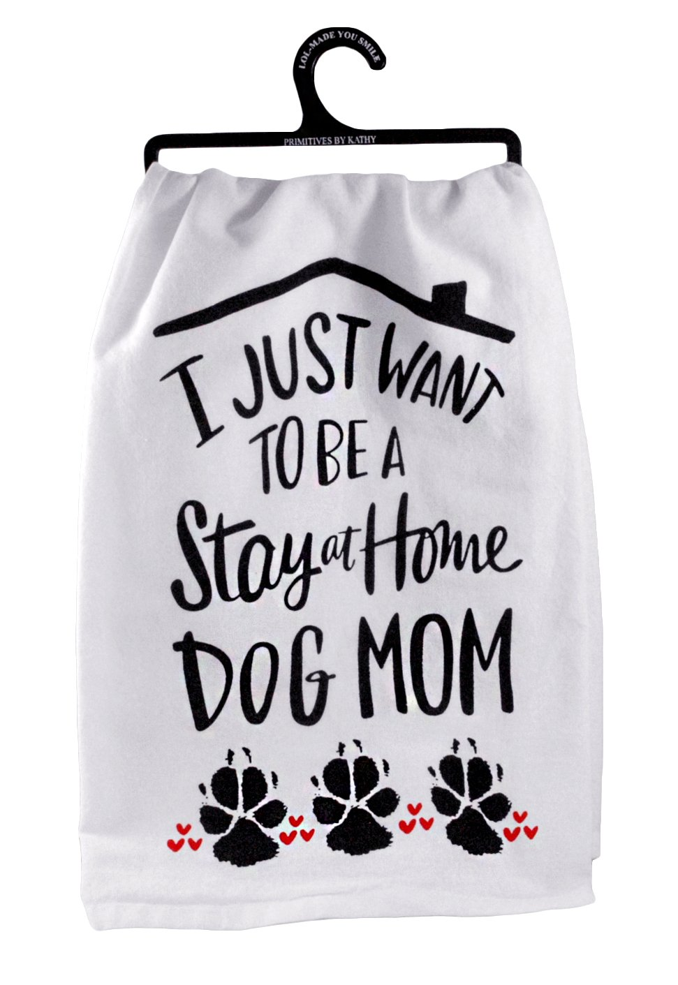 I Just Want to be a Stay at Home Dog Mom Decorative Cotton Towel