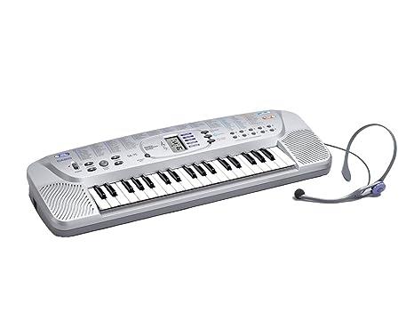 Casio SA-75 - Teclado con micrófono para auriculares