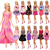 Barwa 12-Pack Fashion Mini Dresses Clothes Outfits Sets Mix Styles and Color Random for 30 cm 11.5 Inch Girl Doll
