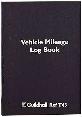 exacompta guildhall vehicle mileage log book 149 x 104 mm 60 pages