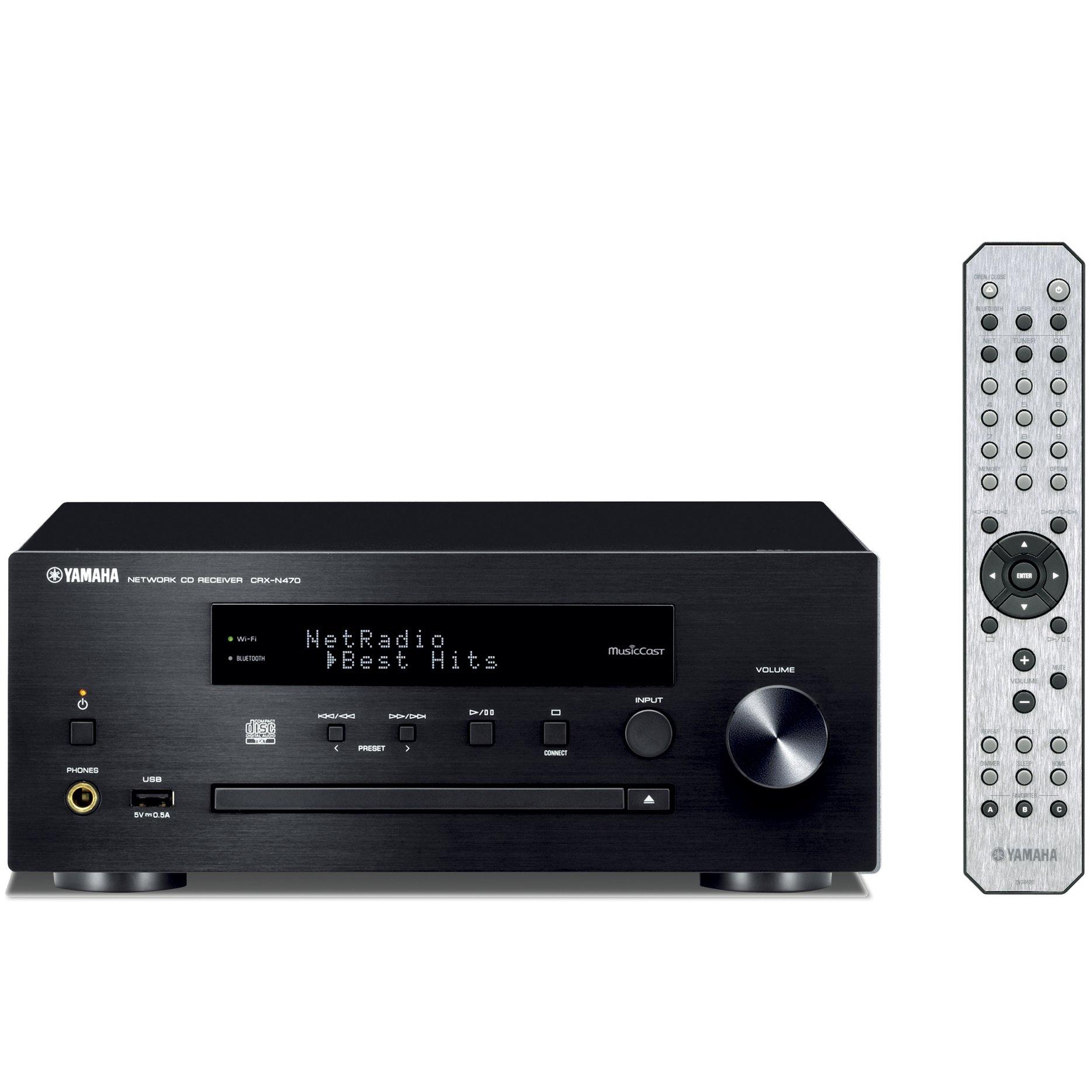 YAMAHA network CD receiver Wi-Fi built-in CRX-N470 (B) (Black) (Japan domestic model)