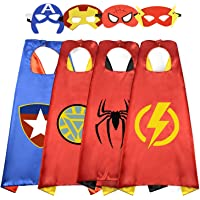 ROKO Fun Cartoon Superhero Capes for Kids - Best Gifts for Halloween