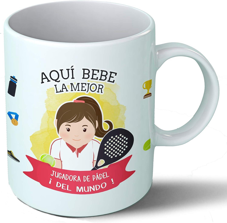 Planetacase Taza Desayuno Aquí Bebe la Mejor jugadora de Padel del ...