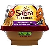 Sabra Snackers Grab n' Go Hummus 4.56 oz Pack of 12 (Roasted Garlic Hummus with Pretzels)