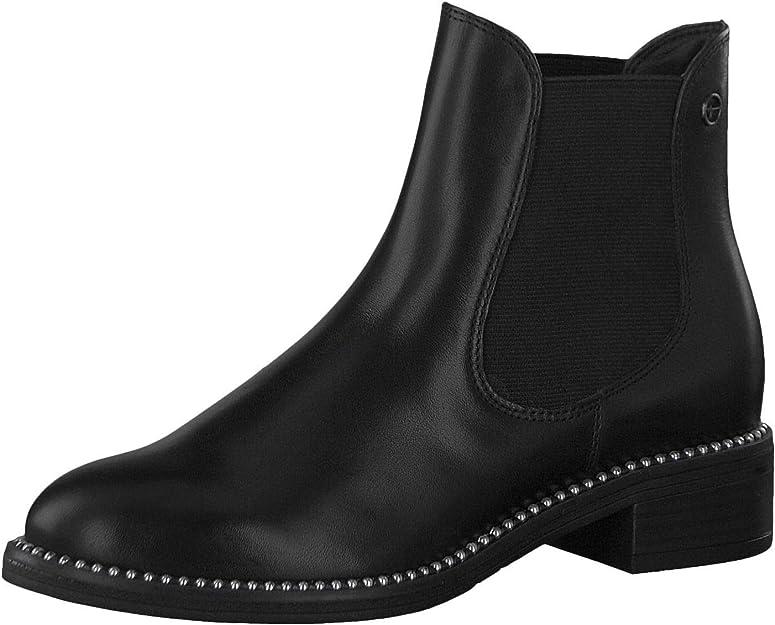 Tamaris Damen schwarze  Stiefeletten Boots Nieten Gr.40