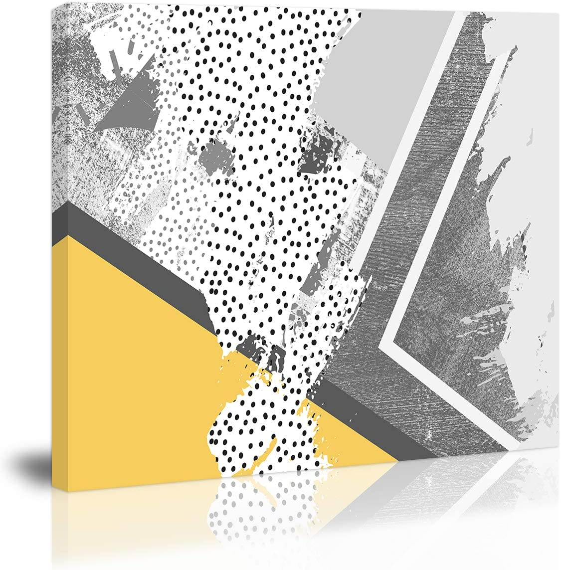 Modern Abstract Wall Art Decor Yellow Gray Modern Artwork Canvas Painting Prints Pictures Home Decor for Living Room Dining Room Bedroom
