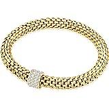 Rafaela Donata - Bracelet maille gourmette - Acier inoxydable cristal de verre - En différentes longueurs, bracelet cristal de verre, bijoux en acier inoxydable - 60917008