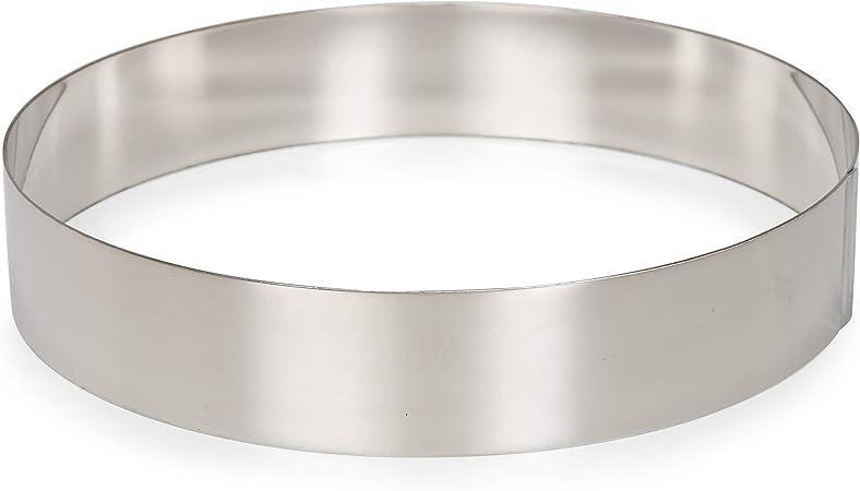 Staedter Round Dessert Ring Stainless Steel Silver 16 cm Diameter x 6 cm Height 16 x 6 cm