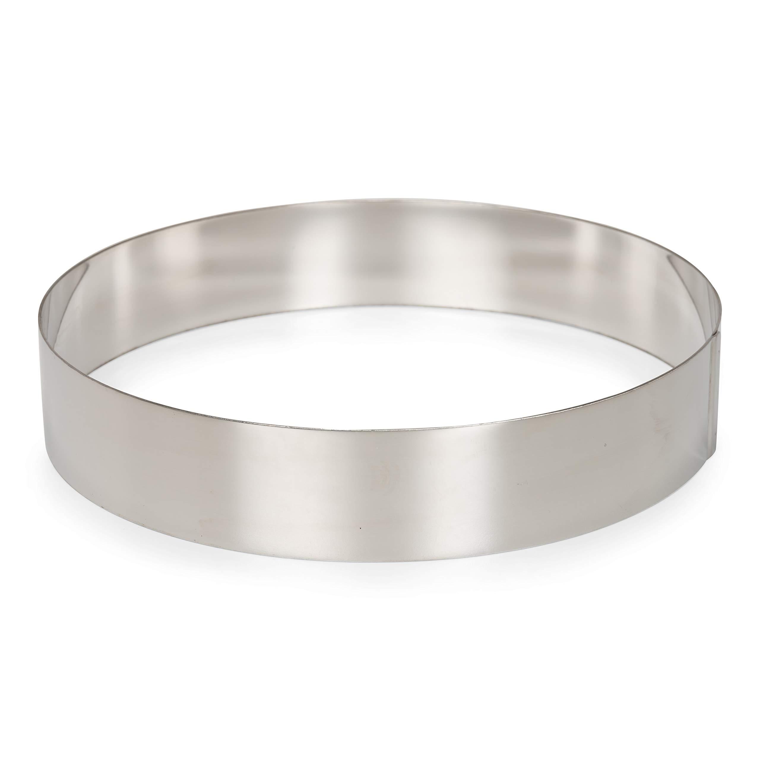 Patisse 02158 Round Cake Ring, 10-1/4'' (26 cm) Stainless Steel