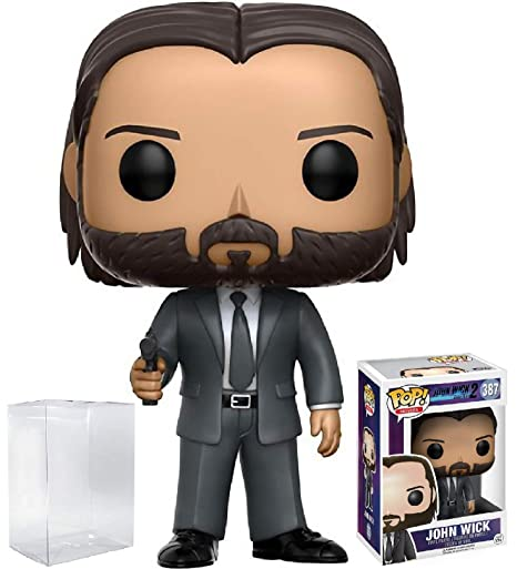 20041d652e9 Amazon.com  Funko Pop! Movies  John Wick Chapter 2 Vinyl Figure (Bundled  with Pop BOX PROTECTOR CASE)  Toys   Games