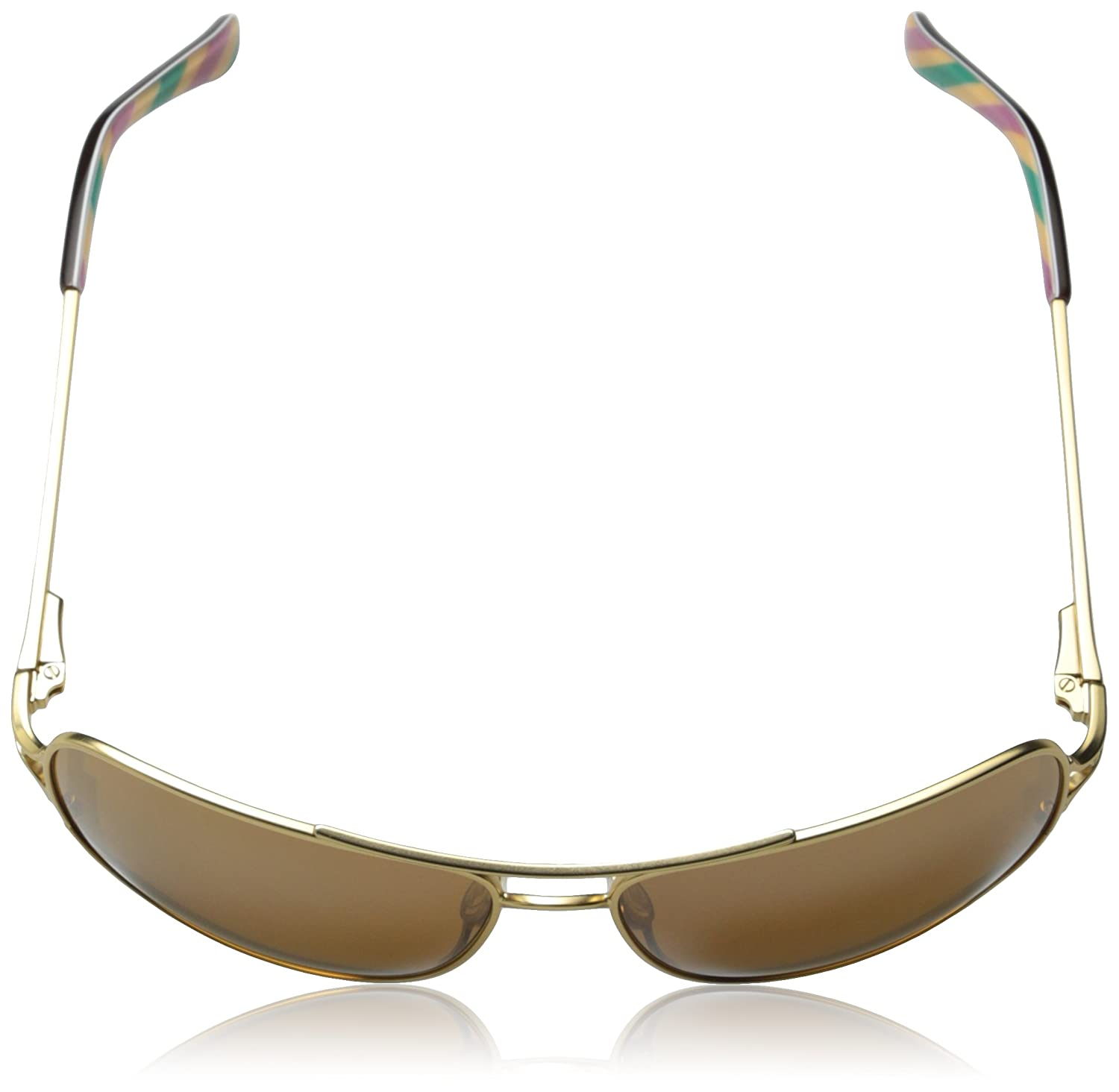 5f0d1774b40 Oakley Women s Conquest OO4101-03 Iridium Aviator Sunglasses Gold Satin   Amazon.in  Clothing   Accessories