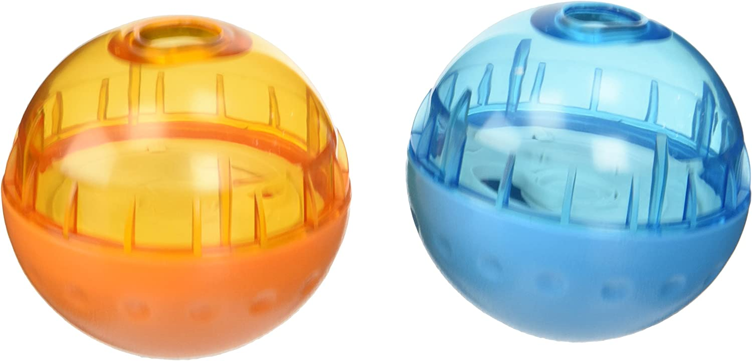 Our Pets Smarter Interactive IQ Treat Ball Dog Toy, 3 Inches -2 Pack - Color May Vary