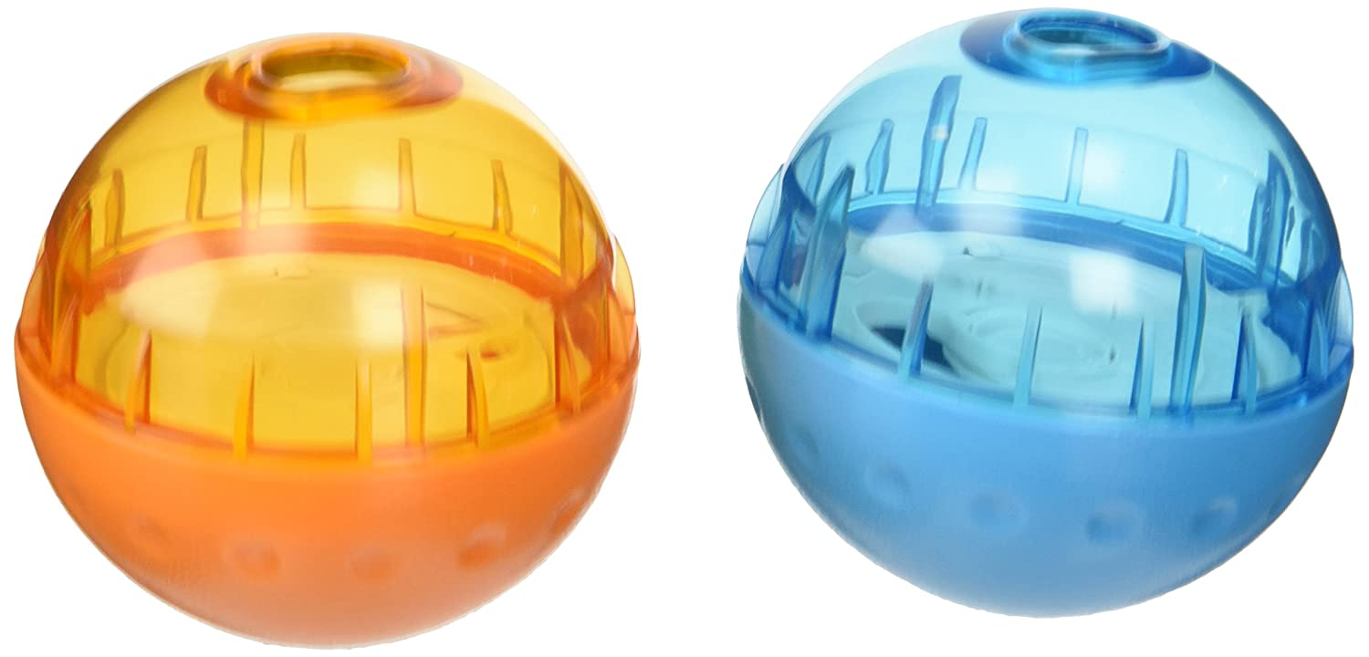 Our Pets Smarter Interactive IQ Treat Ball Dog Toy, 3 Inches2 Pack color May Vary