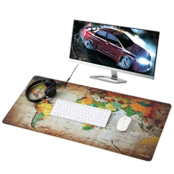 Amazon jialong big mouse pad xxl 900x400mm water resistant jialong big mouse pad xxl 900x400mm water resistant world map desk mat office work mat gumiabroncs Image collections