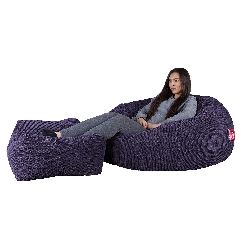 Lounge Pug®, Puff Gigante Sofá Clásica, Pompón - Morado ...