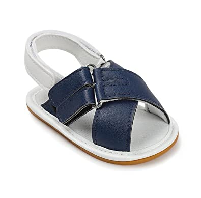 Herekind Summer Newborn Kids Baby Shoes Infant Toddler Mixed Colors Buckle First Walkers Cross Beach Rubber