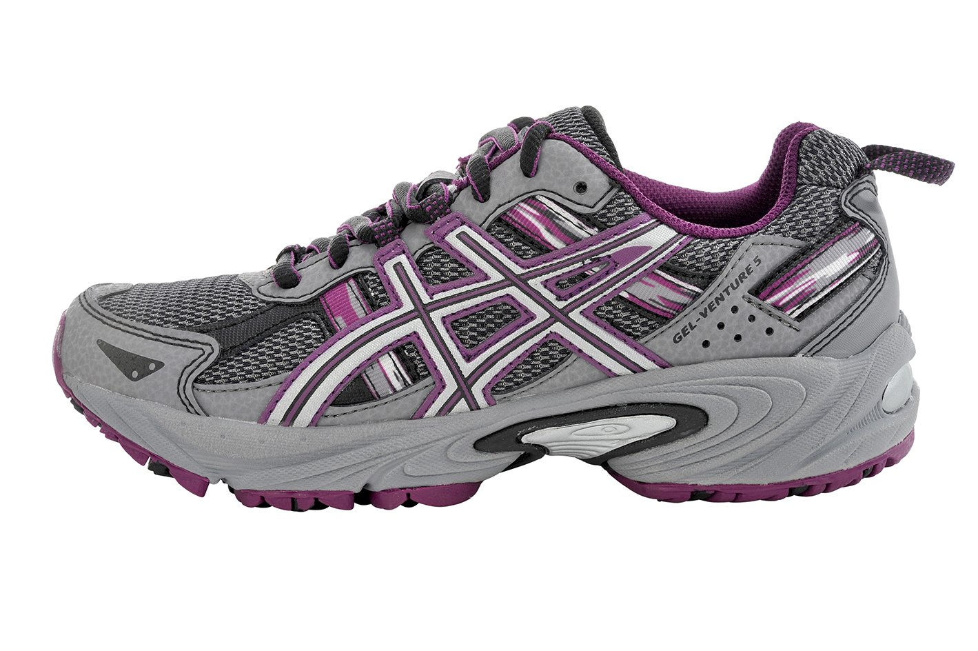 ASICS Women's Gel-Venture 5 Trail Running Shoe, Frost Gray/Gray/Silver/Magenta, 6 M US by ASICS (Image #5)