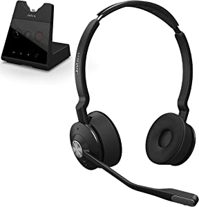 Jabra Engage 65 Wireless Headset, Stereo – Telephone Headset with Industry-Leading Wireless Performance, Advanced Noise-Cancelling Microphone, Call Center Headset with All Day Battery Life