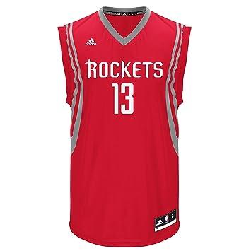 Adidas para Hombre Houston Rockets James Harden # 13 Rojo réplica Road Jersey (tamaño Grande