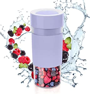 Portable Blender, docgreen Personal Size Juicer Cup with USB Rechargeable Battery, Electric Power Mixer for Fruit and Vegetable, 300ml(purple)