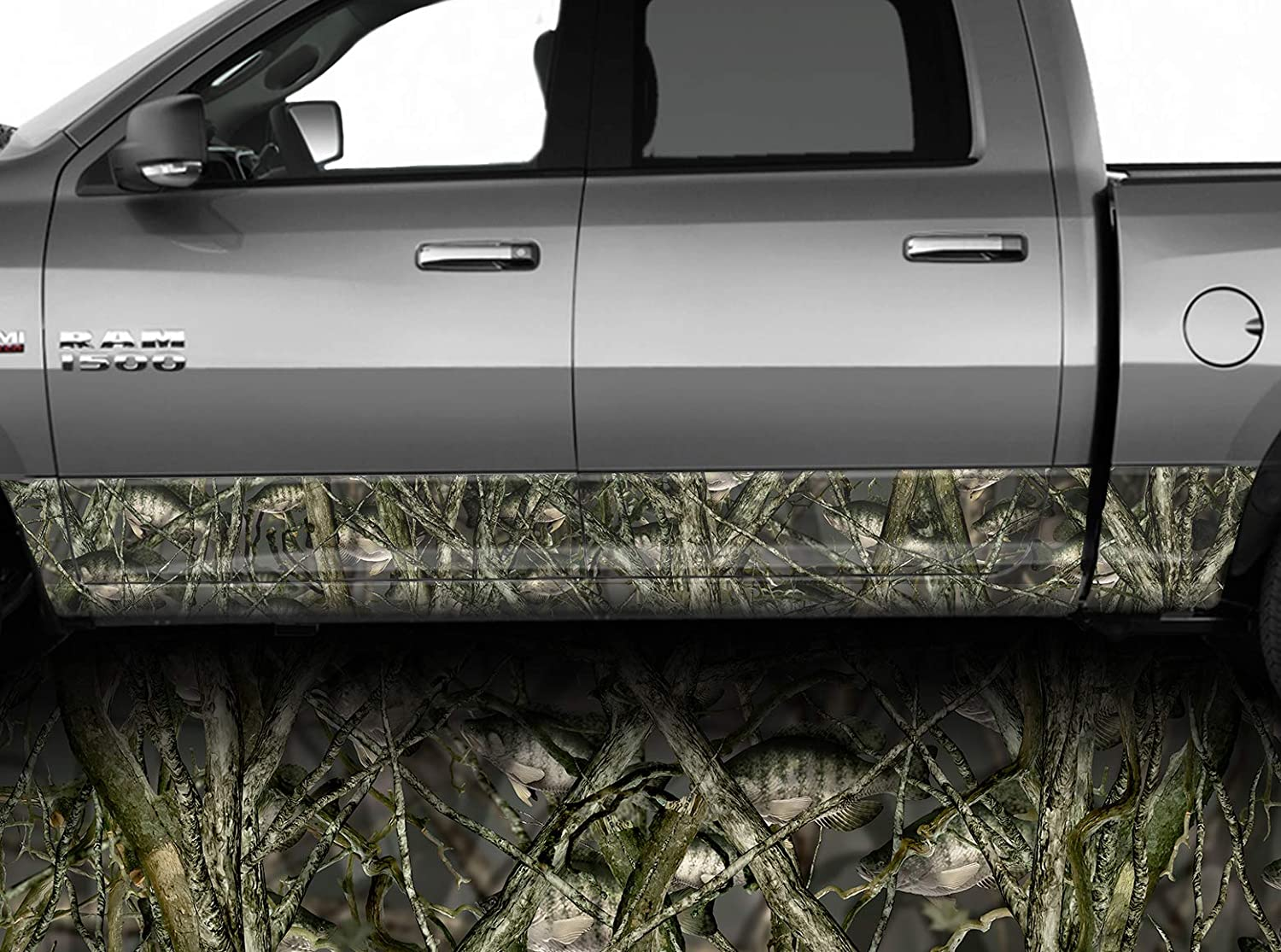 """Crappie Fish CAMO DECAL 3M WRAP VINYL 52/""""x15/"""" TRUCK PRINT REAL CAMOUFLAGE"""