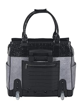 6e9bfae010c Amazon.com  The Verona Rolling Computer iPad Tablet or Laptop Tote  Briefcase Carryall Bag  Computers   Accessories