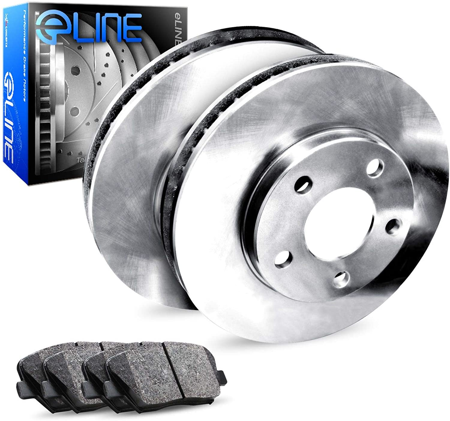 Rear Coated Drilled Slotted Disc Brake Rotors And Ceramic Pads Kit For Hyundai Accent Kia Rio