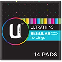 U by Kotex Ultrathin Pads Regular Non Wings, Pack of 14