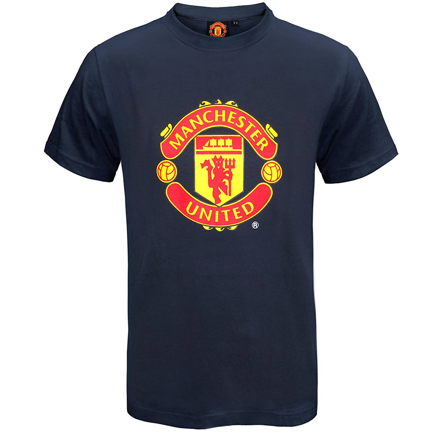 Manchester United Football Club Official Soccer Gift Mens Crest T Shirt