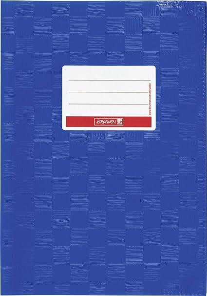 Brunnen 104052436 Hefthülle Heftumschlag A4 Folie Mit Namensschild Blau Bürobedarf Schreibwaren